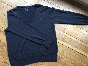 Gant V-Neck Sweater dark blue