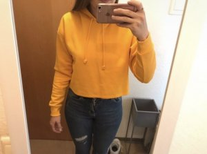 H&M Hooded Sweater gold orange