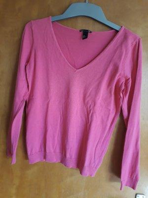 H&M Maglione con scollo a V rosa