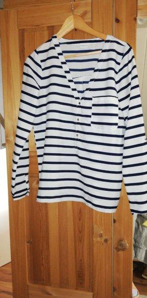 Twin-set trui wit-blauw
