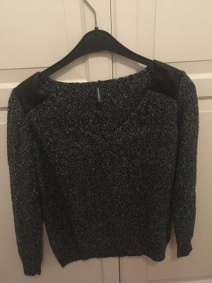 Naf naf V-Neck Sweater grey-silver-colored