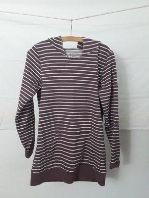 Sweaterjurk wit-grijs-lila