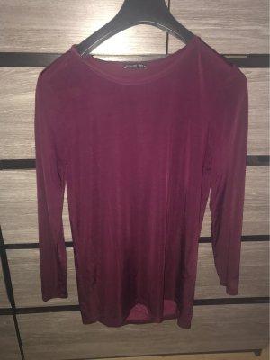 Zara Jersey de cuello redondo burdeos