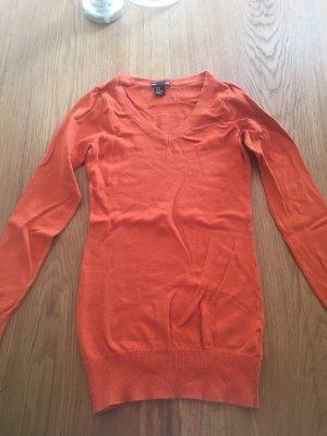H&M Maglione con scollo a V arancione