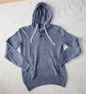 H&M Hooded Sweater slate-gray-white
