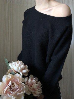 GCfontana Short Sleeve Sweater black cashmere