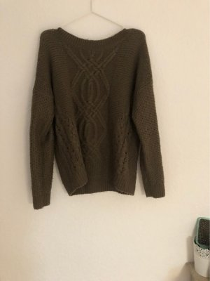 Clockhouse Coarse Knitted Sweater dark brown-brown