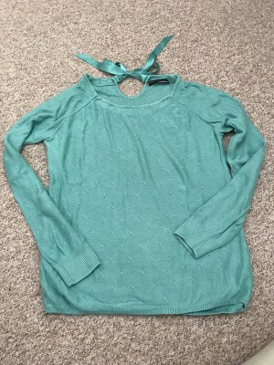 Fine Knitted Cardigan turquoise