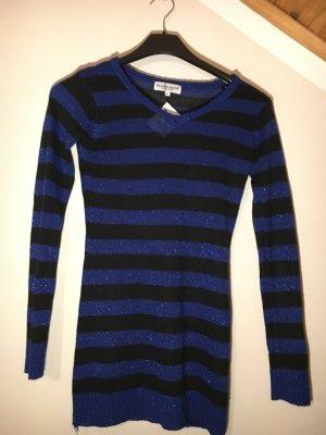 Blind Date Long Sweater black-blue