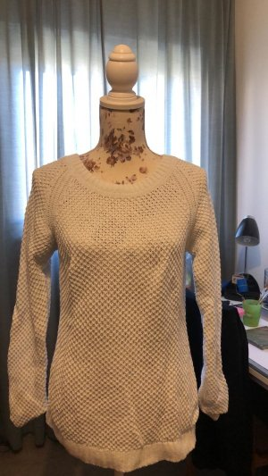 H&M Coarse Knitted Sweater white