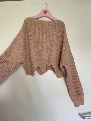 Forever 21 Coarse Knitted Sweater dusky pink-pink mixture fibre