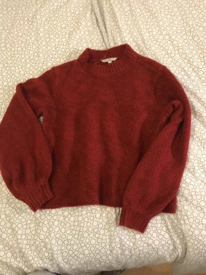 C&A Jersey de cuello alto rojo oscuro