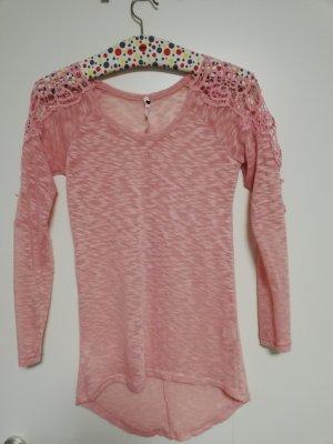 Pullover all'uncinetto rosa