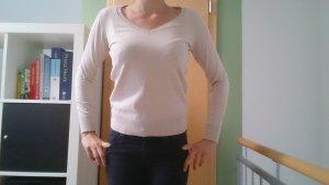 Pullover, 75% Baumwolle, Gr. M, Beige und Türkis