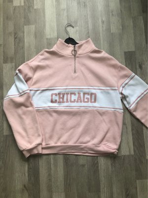 H&M Divided Oversized Sweater white-pink