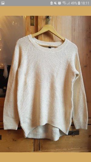 H&M Maglione oversize bianco sporco