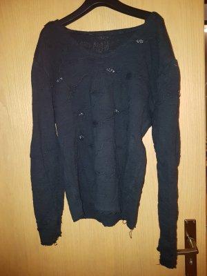 Abito maglione nero-argento
