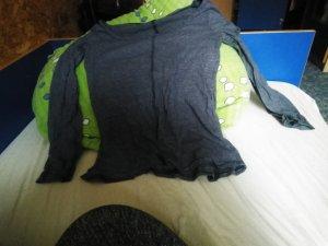 H&M Gestreept shirt donkerblauw