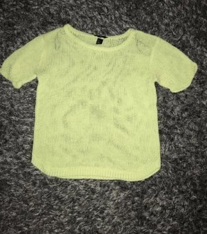 H&M Short Sleeve Sweater neon yellow