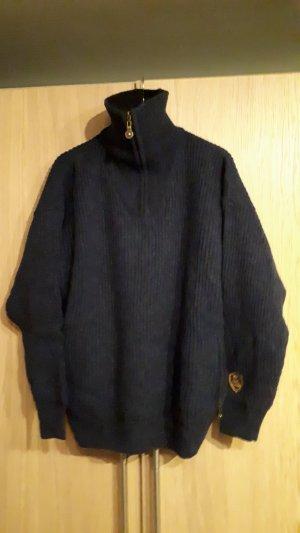 Norwegian Sweater steel blue-blue wool
