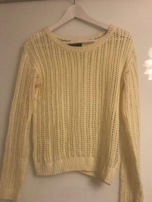 Takko Pull tricoté jaune primevère