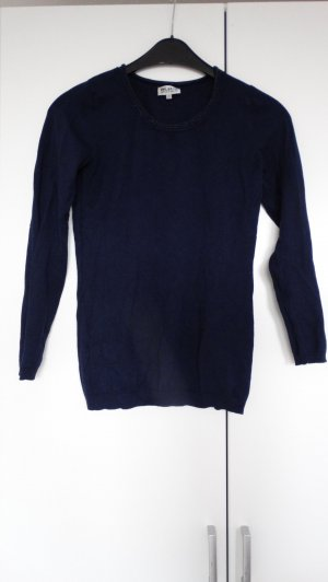 Blue Motion Crewneck Sweater dark blue-silver-colored
