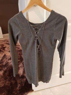 Jersey largo gris oscuro