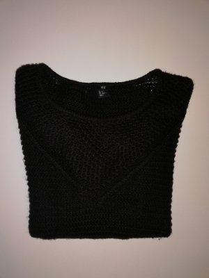 H&M Jersey de lana negro-marrón oscuro