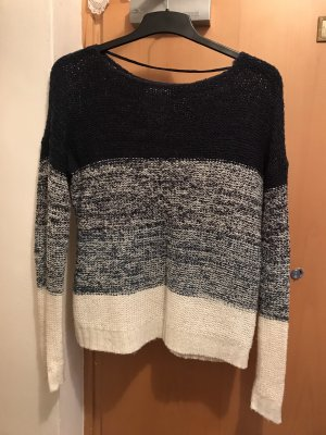 Vero Moda Coarse Knitted Sweater blue-white