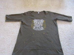 Jersey de cuello redondo verde oliva-caqui