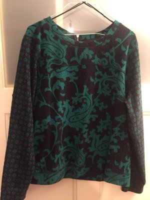 H&M Kraagloze sweater donkergroen-zwart