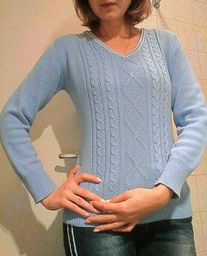 Peckott Long Sweater cornflower blue