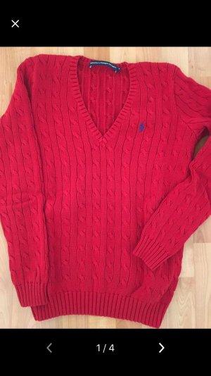 Ralph Lauren Cable Sweater dark red