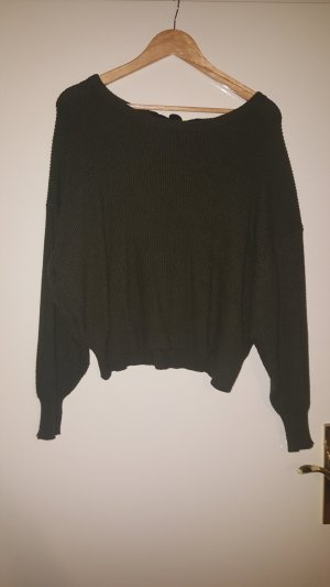 Zara Jersey verde oscuro-caqui