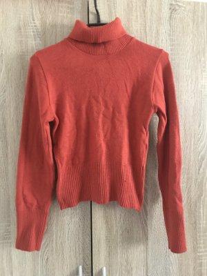 Fleece Jumper dark orange-neon orange