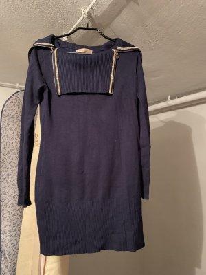 Maglione lungo blu scuro