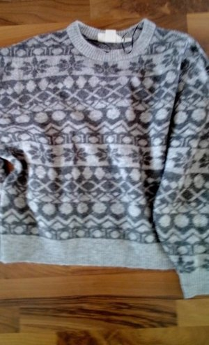 H&M Fleece Jumper light grey-grey