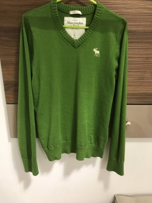 Abercrombie & Fitch V-Neck Sweater green