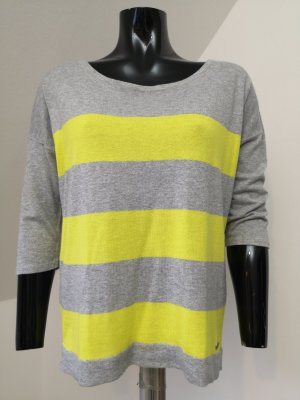 Sir Oliver Oversized Sweater light grey-yellow