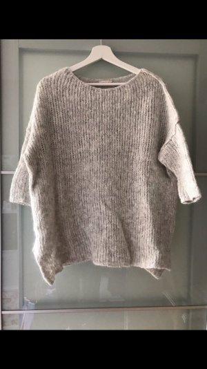 American Vintage Jersey de lana gris claro-blanco puro