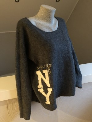 Arlette Kaballo Jersey de lana gris-gris oscuro