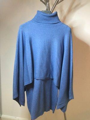 Poncho azul aciano