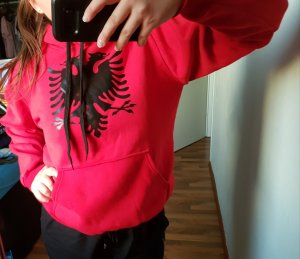 no name Hooded Sweater red
