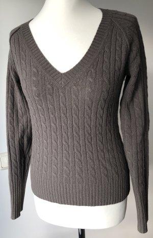 Marc O'Polo Cable Sweater khaki merino wool