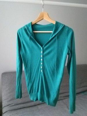 Pullover aus Seide mit Baumwolle und Kaschmir, türkis