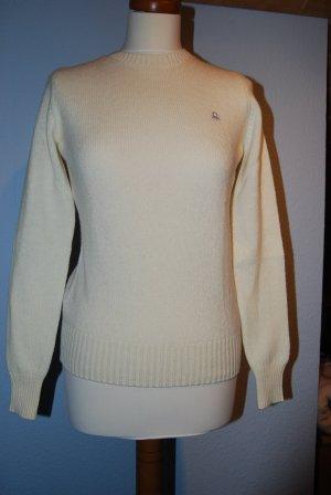 Pullover aus Wolle in wollweiß von Benetton Gr. S / 36