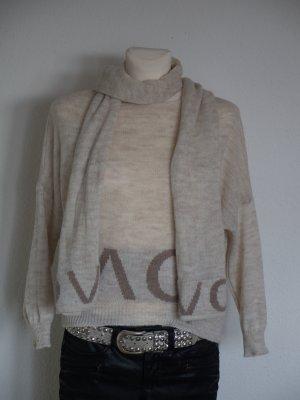 Pullover ausgefallen mit passendem Schal Oversize Gr. 36/38