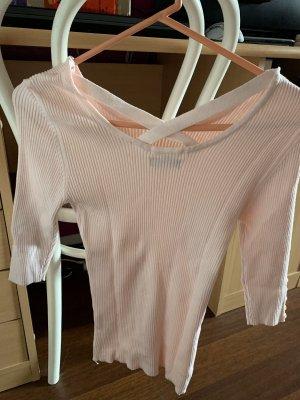 Colloseum Sweater met korte mouwen lichtroze