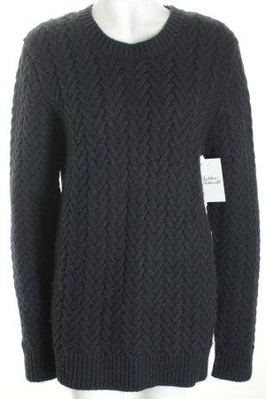 Replay Jersey de lana azul oscuro tejido mezclado