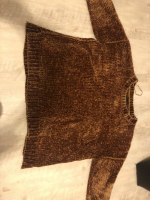 Zara Jersey marrón-color bronce